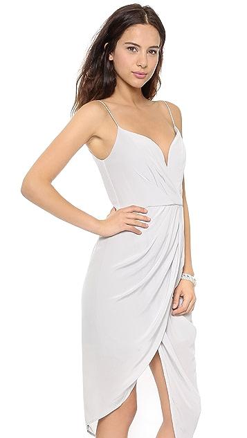 Zimmermann Silk Plunge Draped Dress