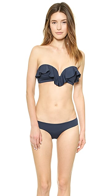 Zimmermann Frill Bandeau Bikini Top