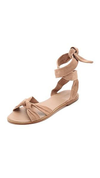 Zimmermann Ankle Tie Flat Sandals