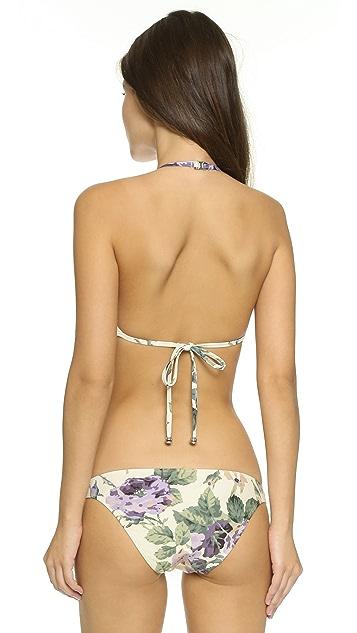 Zimmermann Lucia Embroidered Mesh Bikini