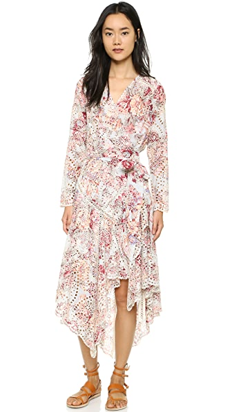 Zimmermann Epoque Broderie Wrap Dress - Floral