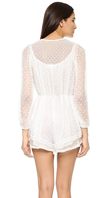 Zimmermann Belle Web Dot Romper