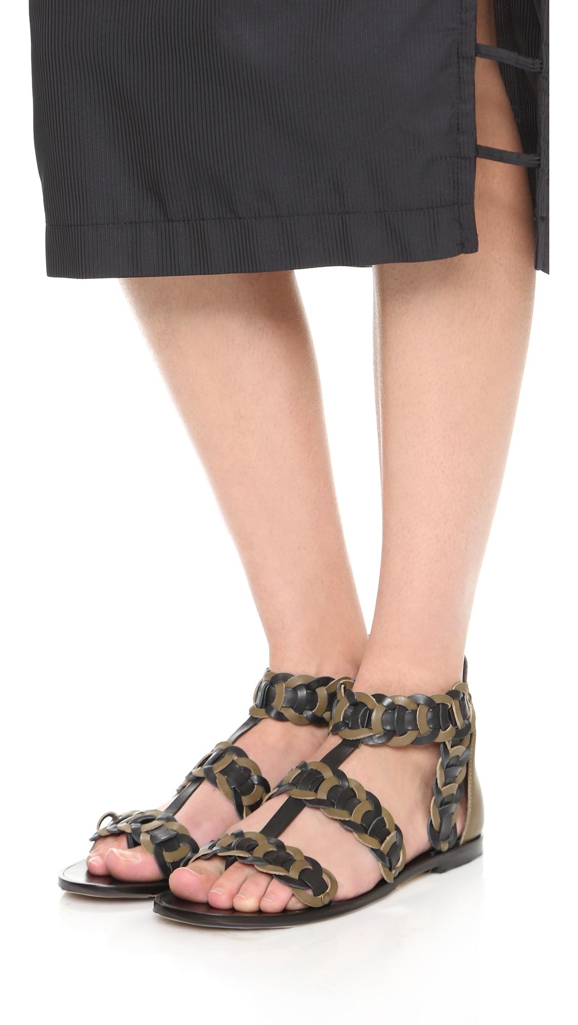 Zimmermann Leather Gladiator Sandals get to buy cheap online big discount cheap price CPaNDiyNF