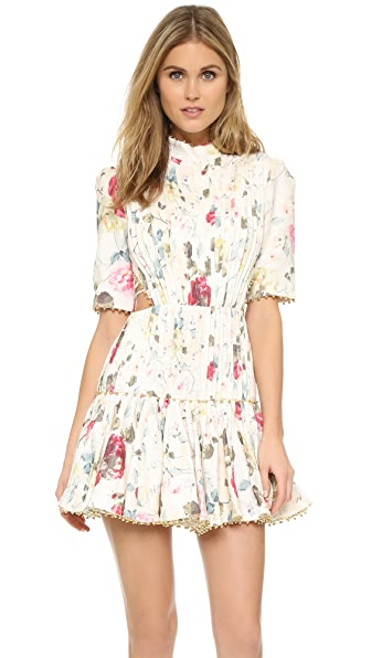Zimmermann Mischief Corset Laced Dress - Floral