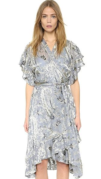 Zimmermann Havoc Wrap Flounce Dress - Floral