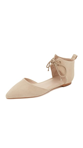 Zimmermann Lace Up Pointed Flats