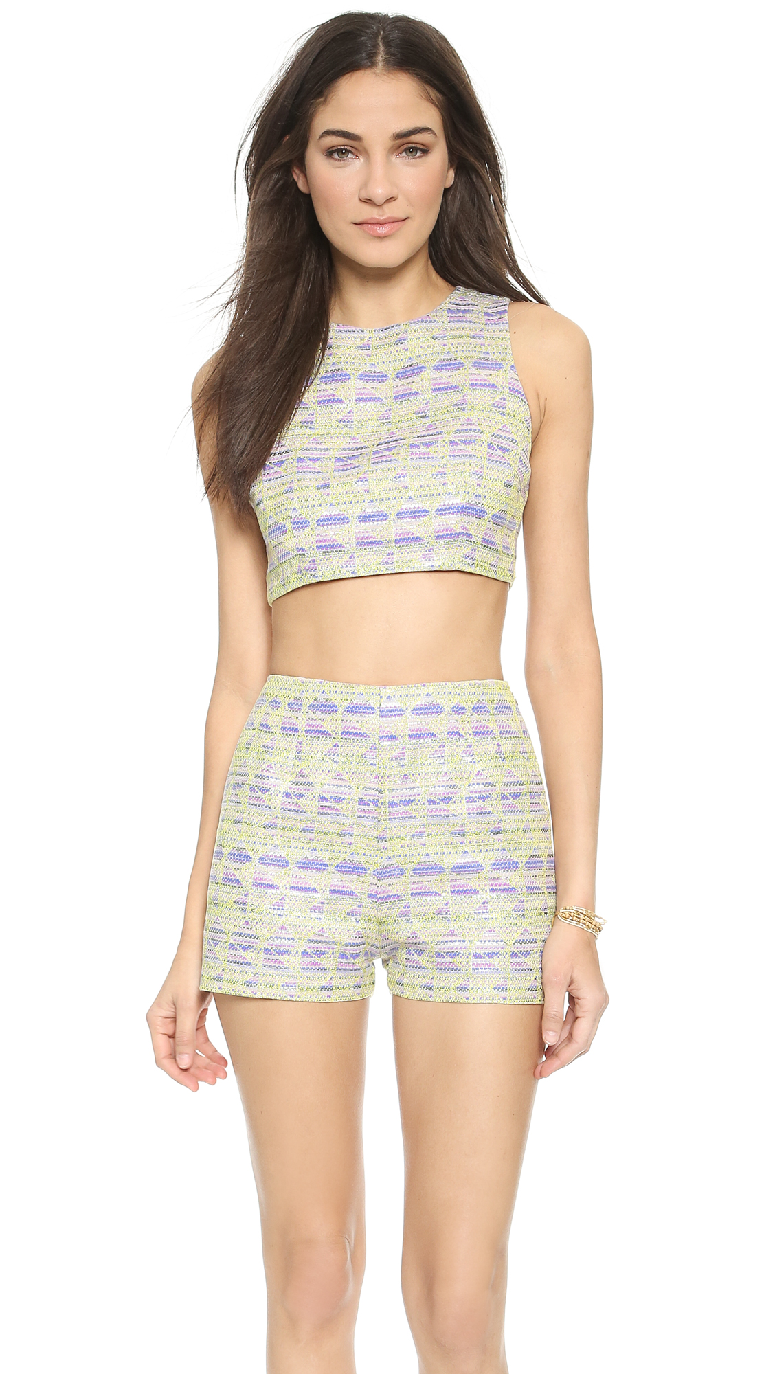 Zinke Leighton Crop Top - Metallic Yelllow