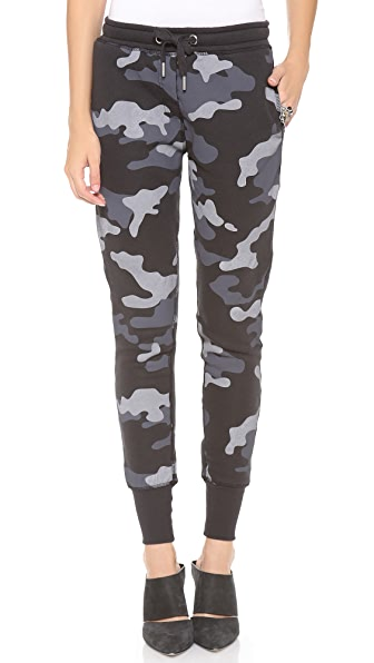 Zoe Karssen Camo Low Waist Sweatpants
