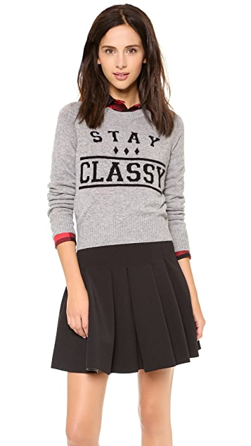 Zoe Karssen Stay Classy Cropped Cashmere Sweater