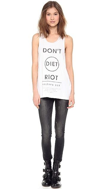 Zoe Karssen Don't Diet Riot Sleeveless Tank