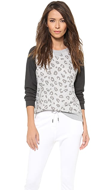 Zoe Karssen Leopard Long Sleeve Top