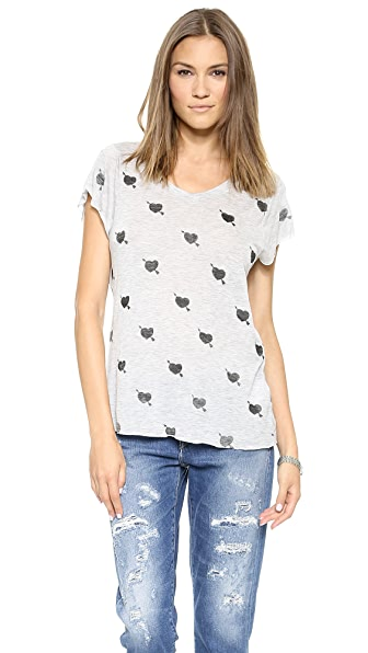 Zoe Karssen Cupid Hearts V-Neck Tee