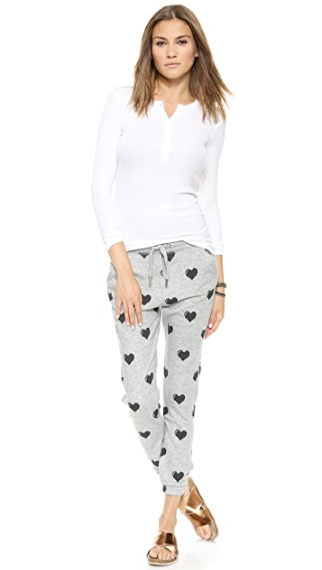 Zoe Karssen Relaxed Fit Hearts Sweatpants