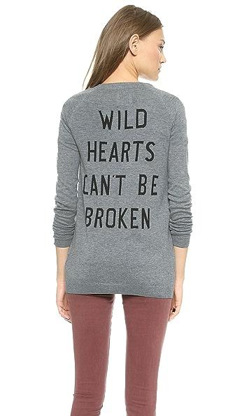 Zoe Karssen Oversized Wild Hearts Cardigan