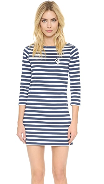 Zoe Karssen Ok Striped Dress - Optic White