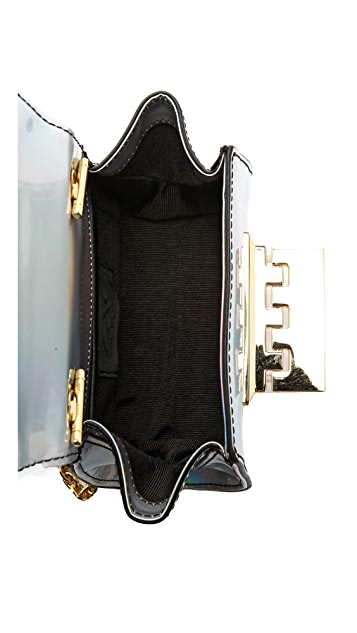 ZAC Zac Posen Holographic Eartha Mini Cross Body Bag