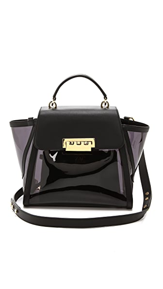 ZAC Zac Posen Clear Eartha Top Handle Bag
