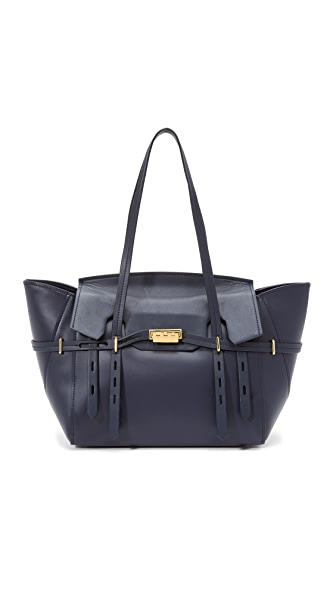 Zac Zac Posen Eartha Belted Satchel - Navy