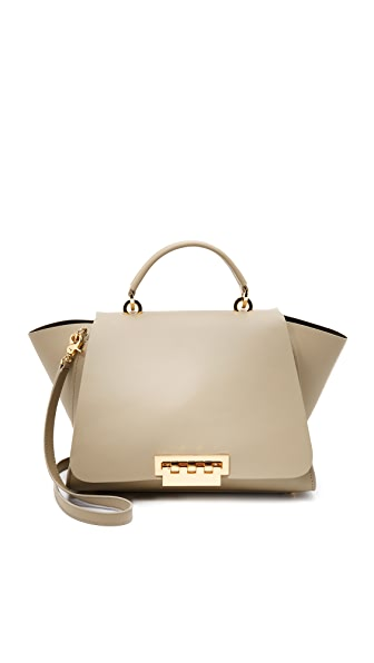 Eartha Iconic Soft Top Handle Satchel, Beige