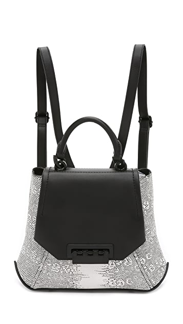 ZAC Zac Posen Snake Embossed Eartha Envelope Backpack