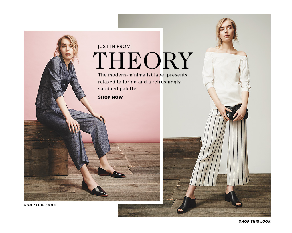 Theory Clothing Women S Spring 2016 Lookbook Shopbop