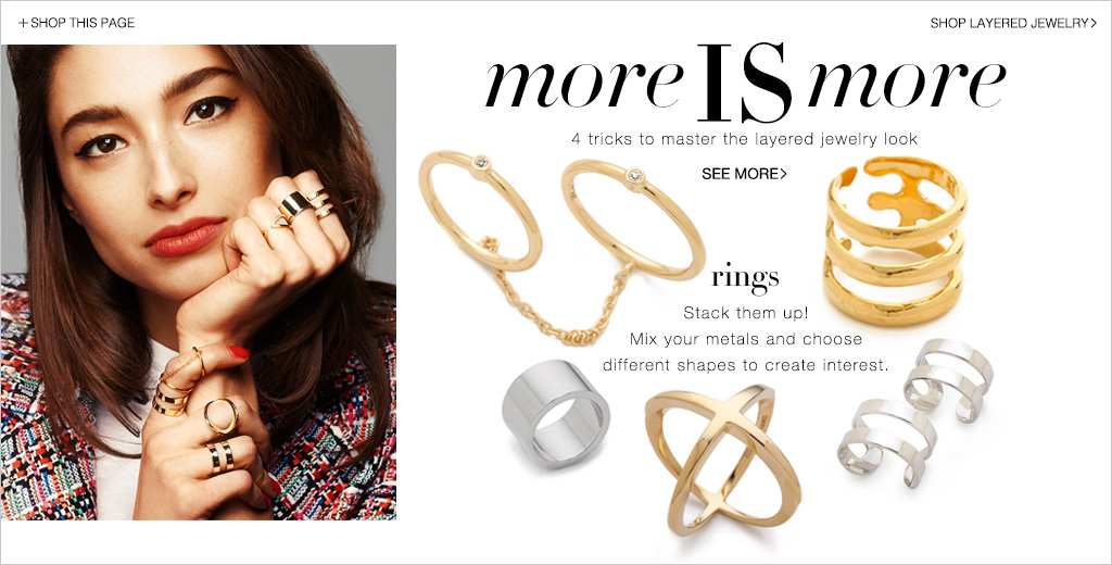 Layered Jewelry Ideas Necklaces And Bracelets Lookbook Shopbop