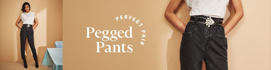 Shop Pegged Pants