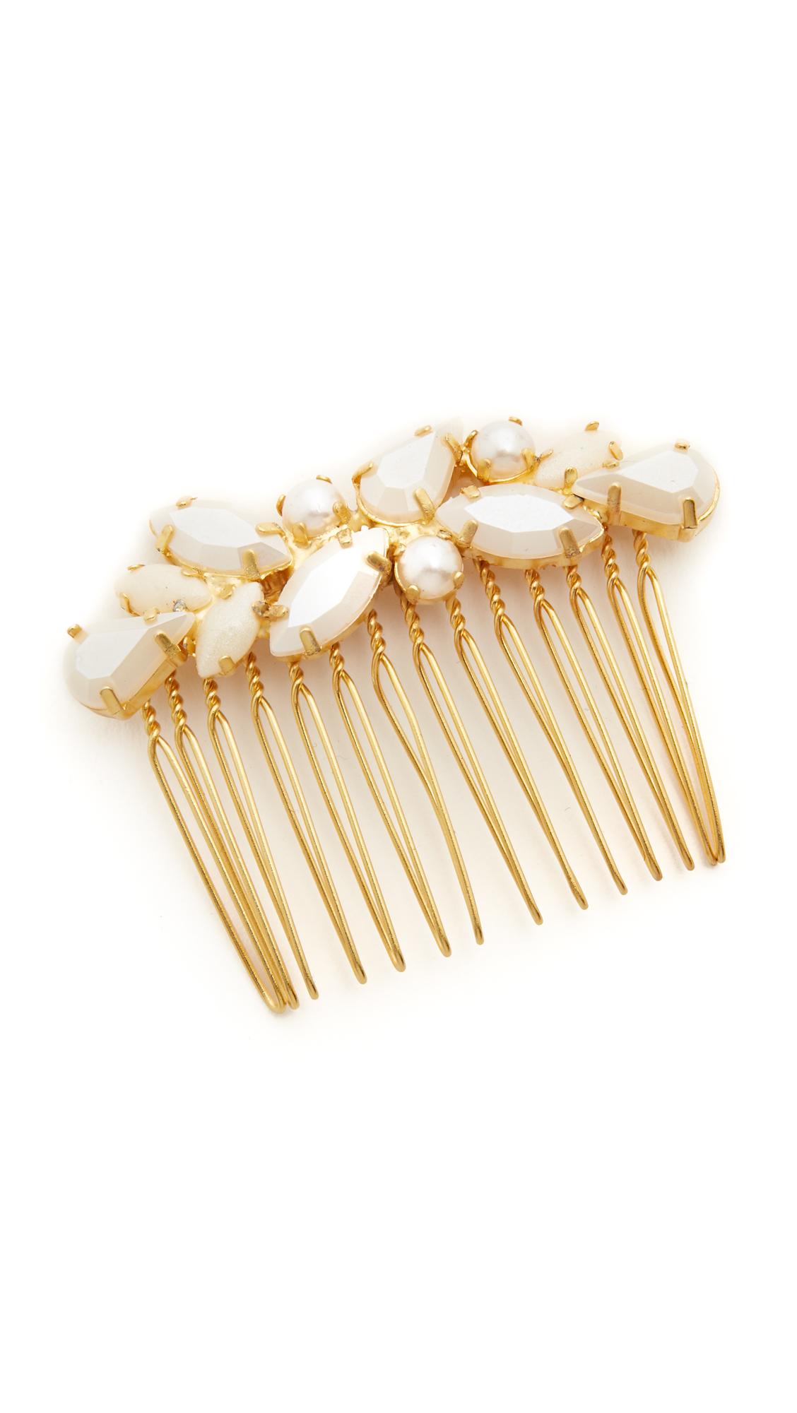 Avigail Adam Imitation Pearl Comb - Pearl/Gold at Shopbop