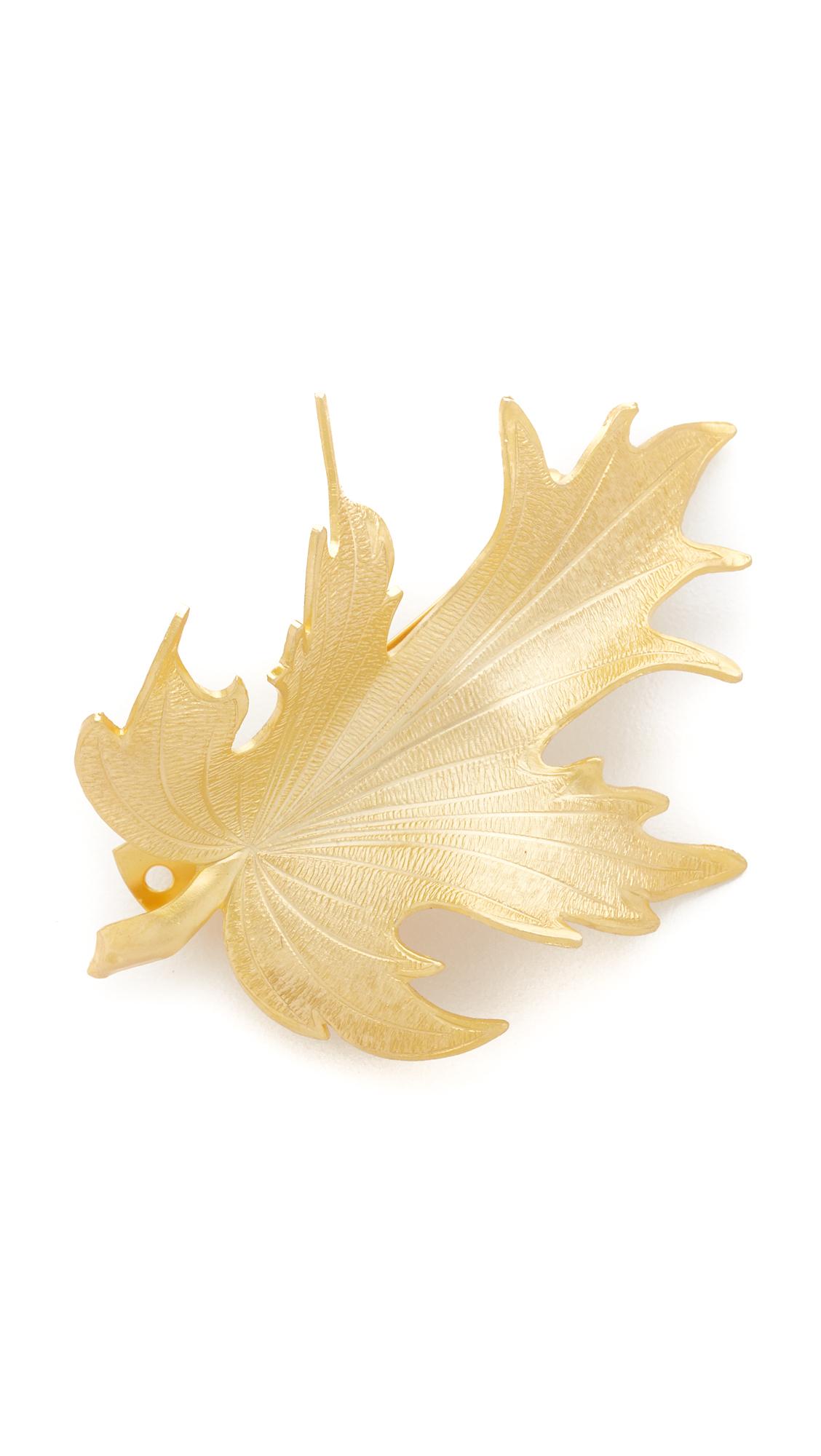 Avigail Adam Large Fig Barrette - Gold at Shopbop