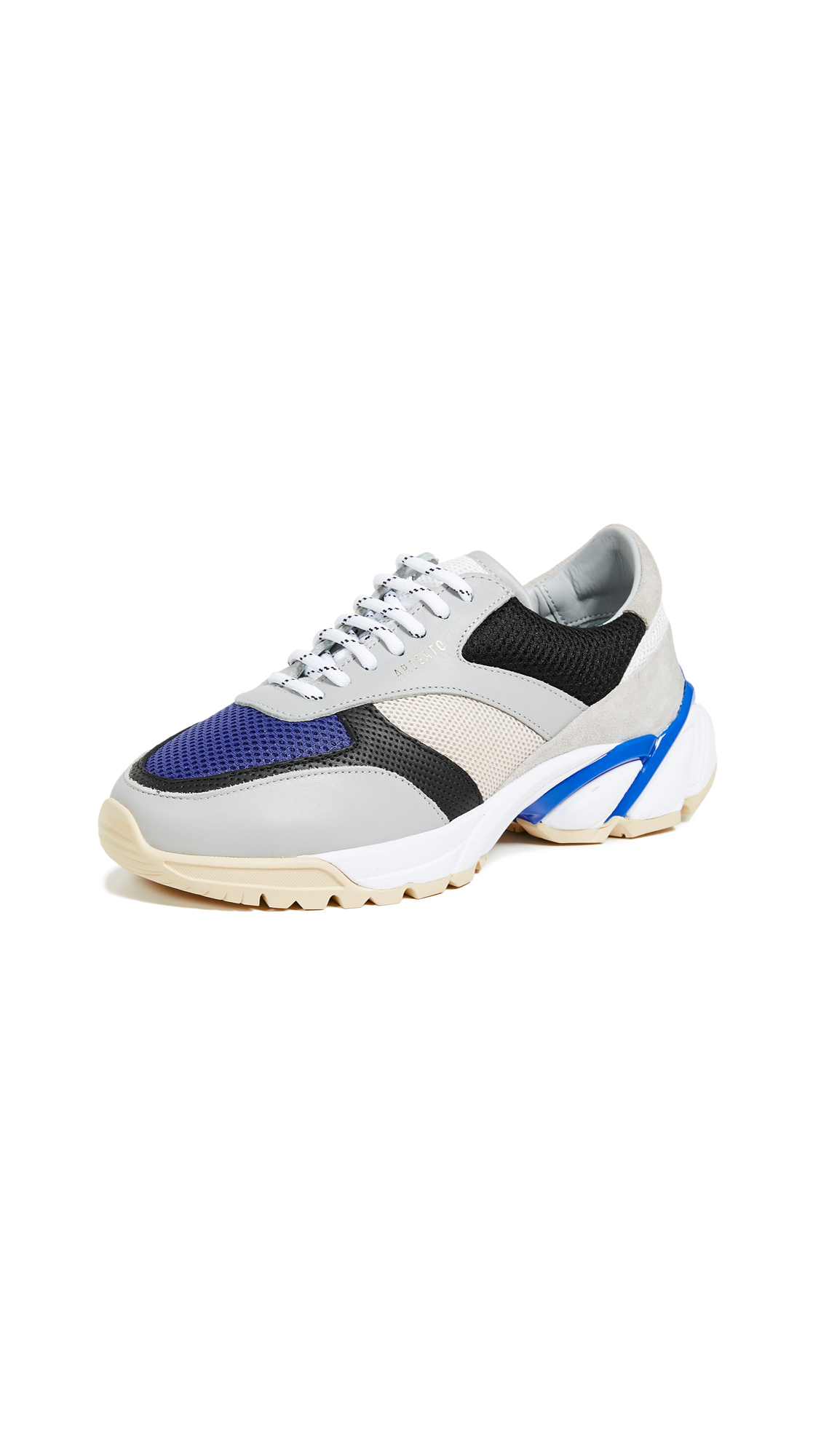 Axel Arigato Tech Runner Sneakers - Grey/Blue/Black