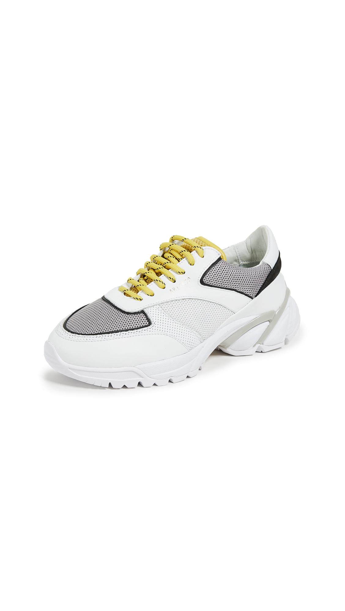 Axel Arigato Tech Runner Sneakers - White/Grey/Yellow