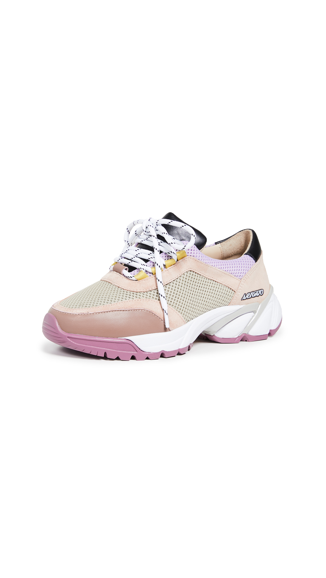 Axel Arigato System Runner Sneakers - Taupe/Pink
