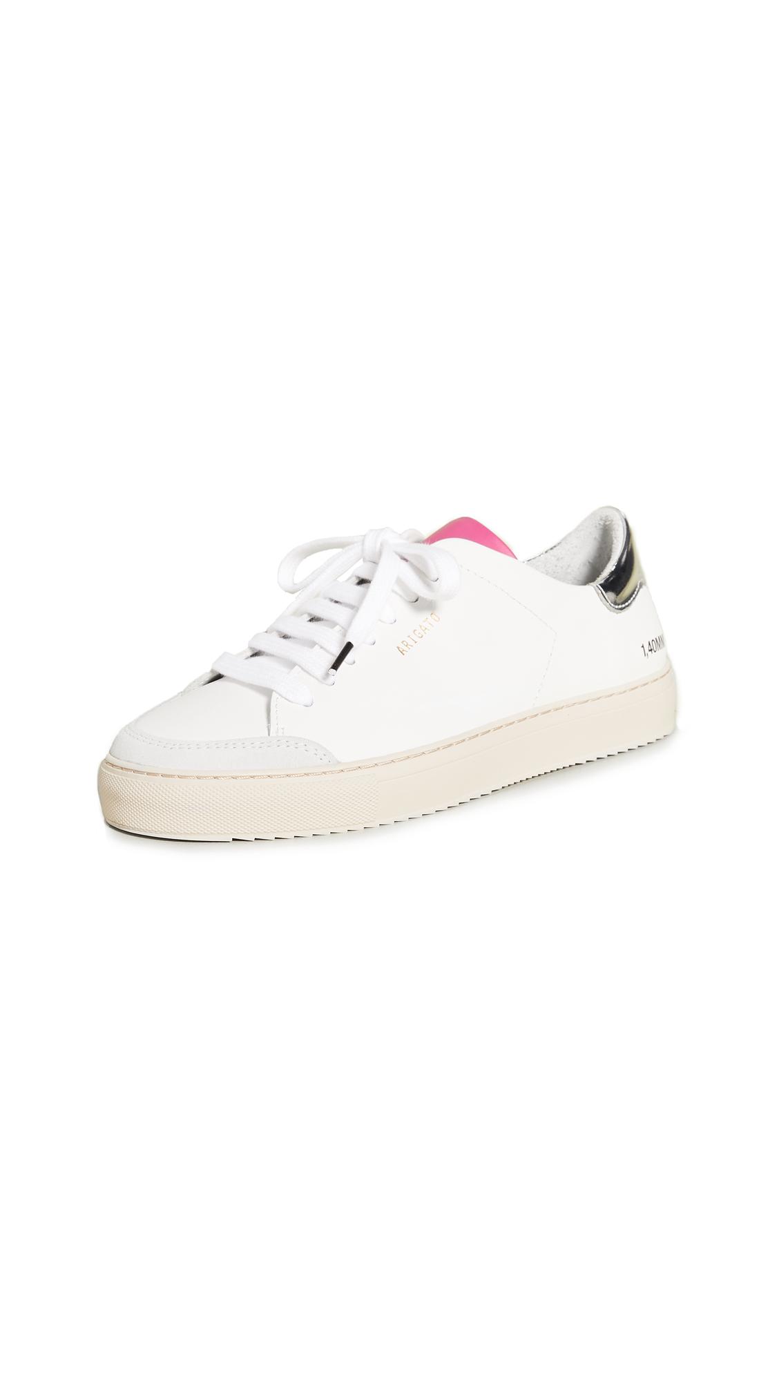 Axel Arigato Clean 90 Sneakers - Silver/Fuchsia/Black
