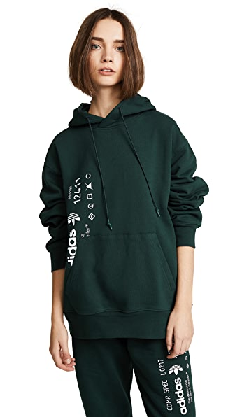 Adidas Originals By Alexander Wang Cottons AW GRAPHIC HOODIE