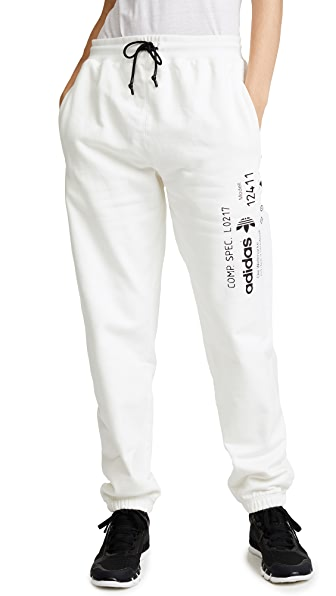 adidas Originals by Alexander Wang AW Graphic Sweatpants In Core White