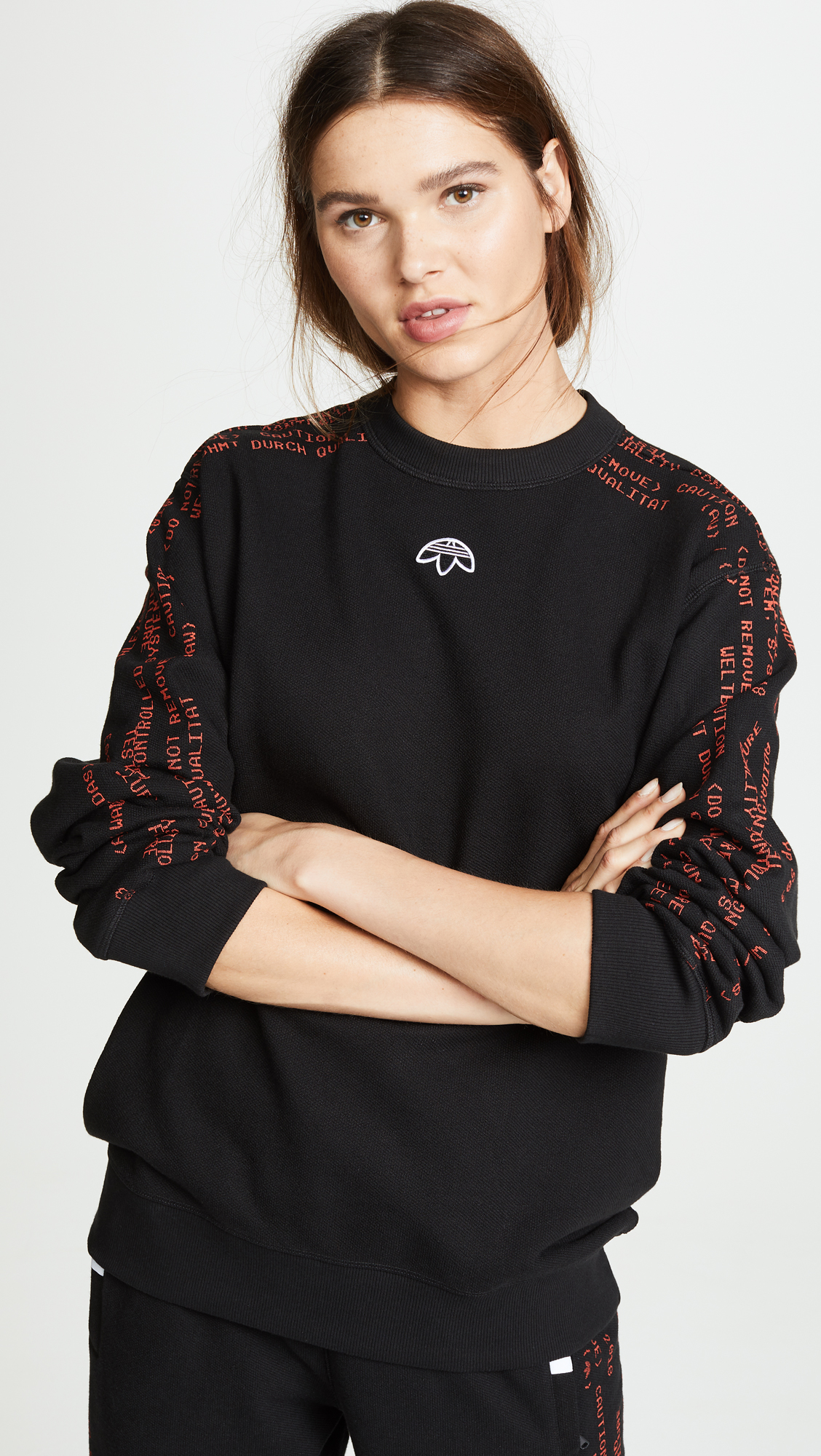 Adidas Originals By Alexander Wang Brand Pullover In Black