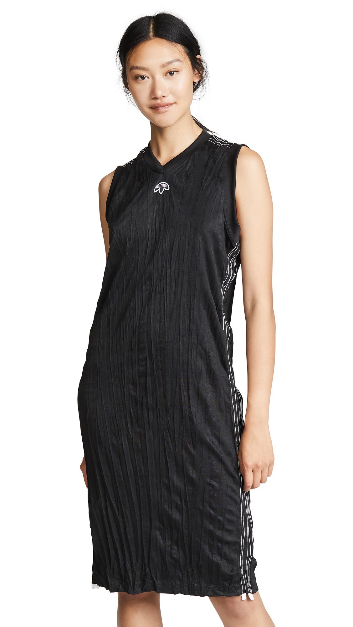 adidas Originals by Alexander Wang Tank Dress In Black/White
