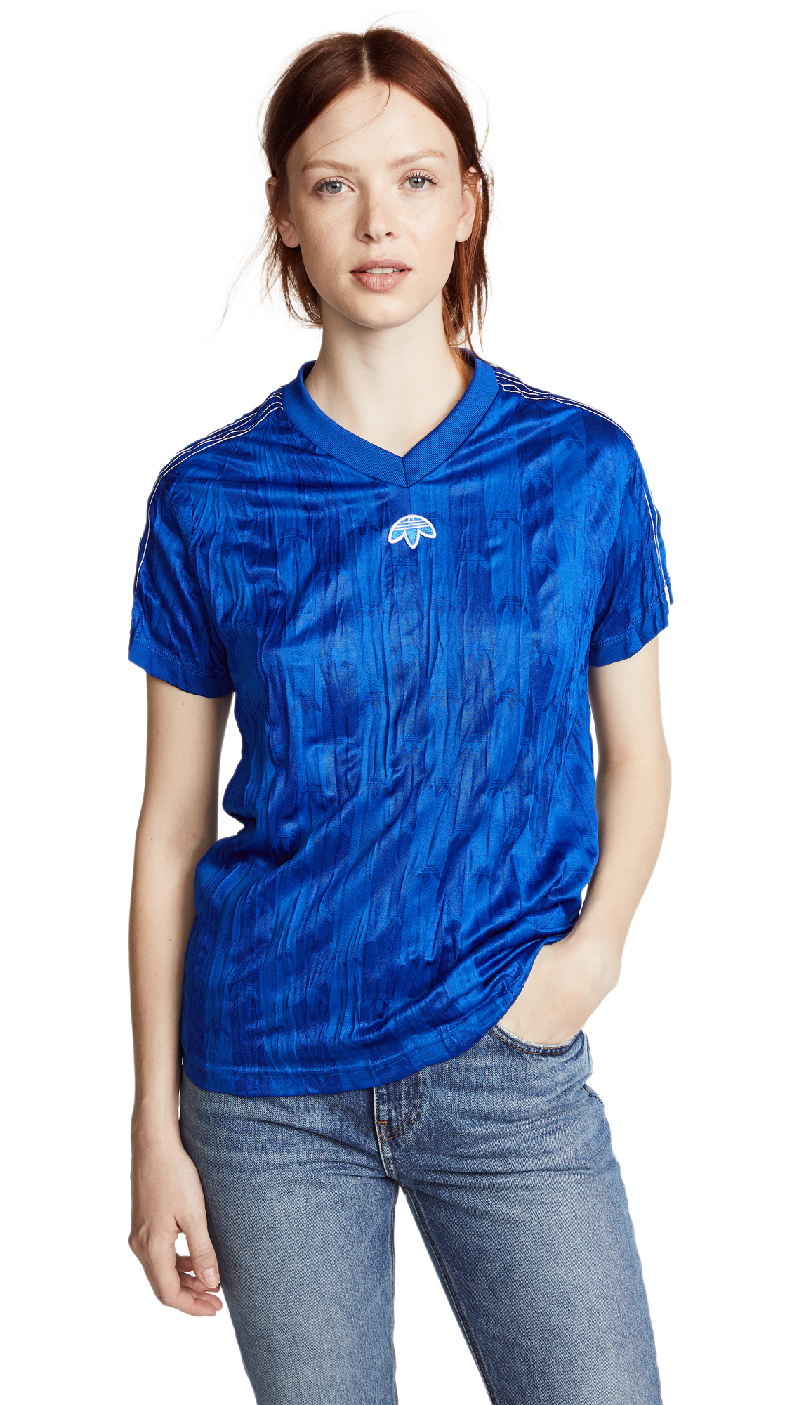 ADIDAS ORIGINALS BY ALEXANDER WANG Jersey Tee, Poblue/White