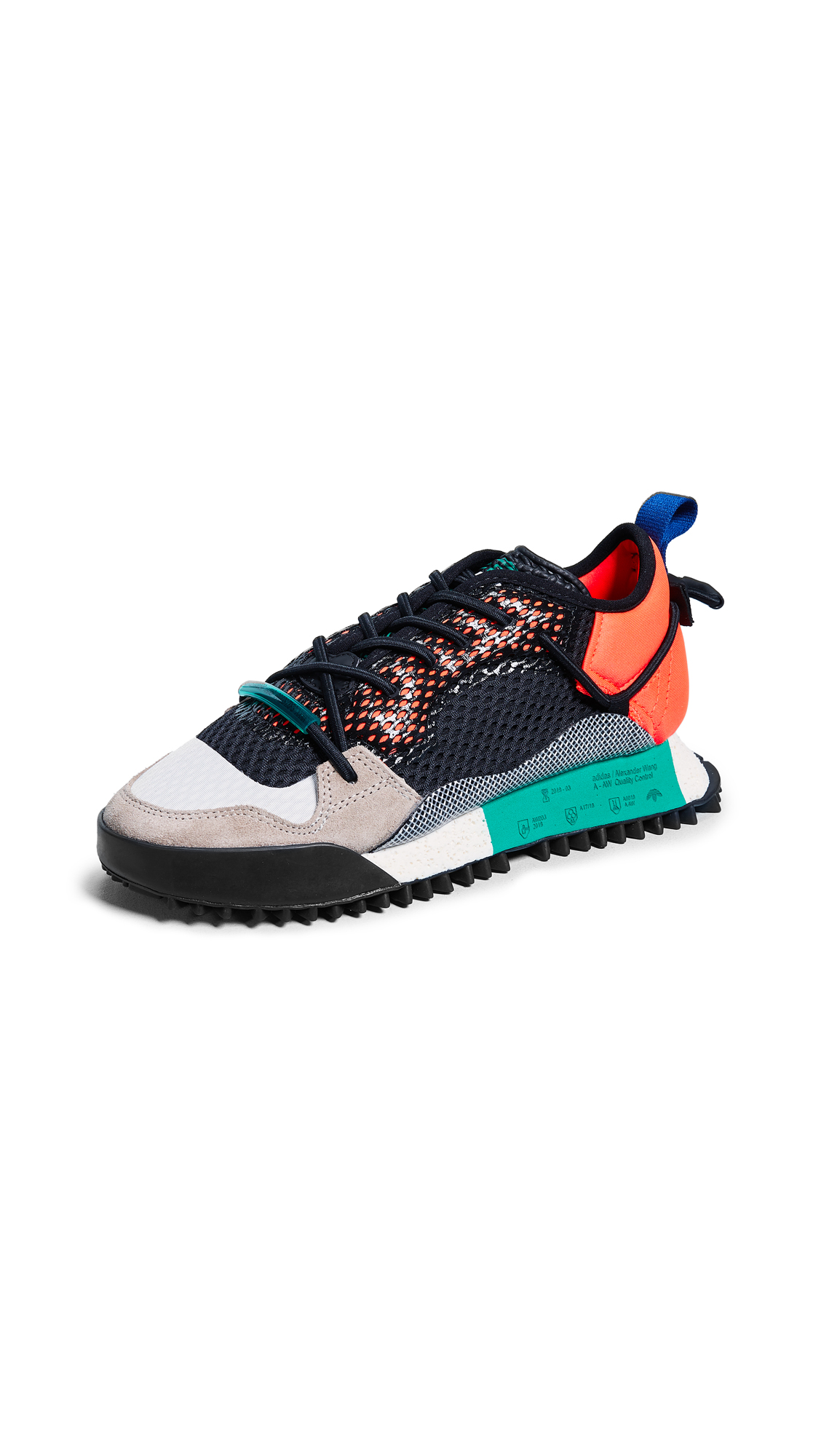adidas Originals by Alexander Wang AW Reissue Run Sneakers - Red/Black/Green