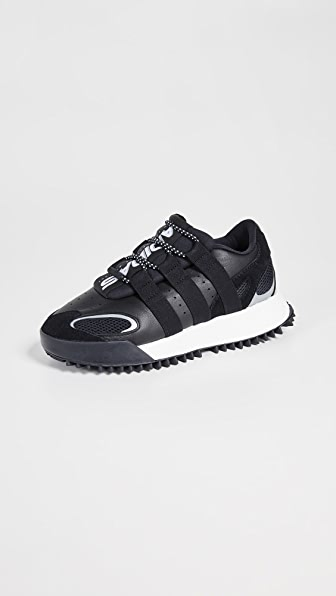 Adidas Originals By Alexander Wang Wangbody Run Mesh, Suede And Leather Sneakers In Core Black