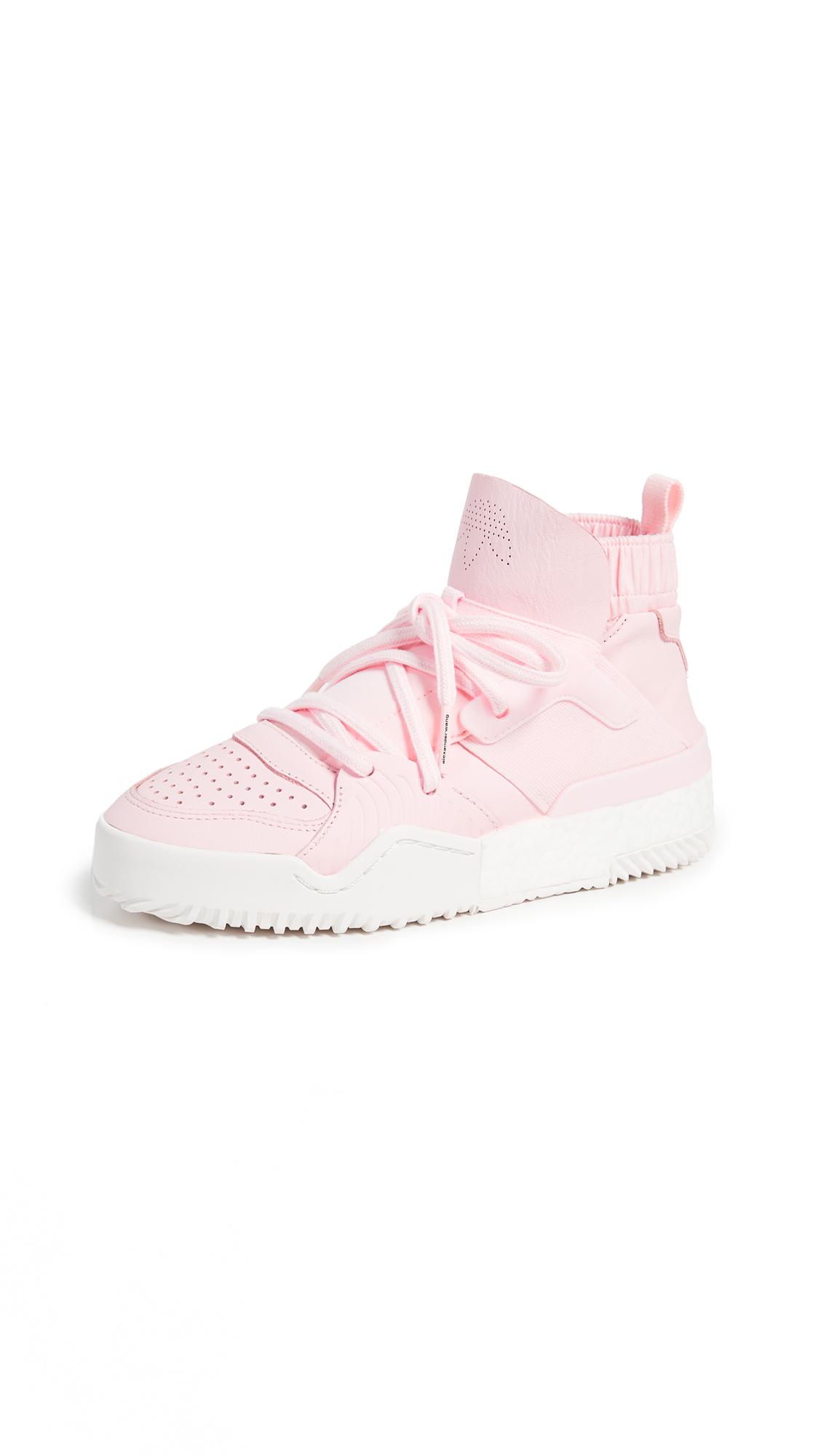 adidas Originals by Alexander Wang AW Bball Hi-Top Sneakers - Clear Pink/Core White