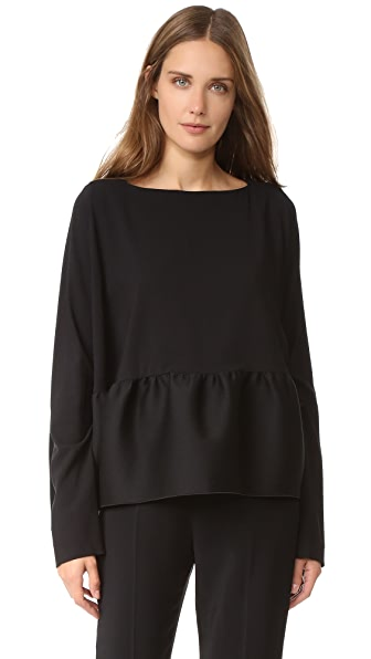 Antonio Berardi Long Sleeve Blouse - Black at Shopbop