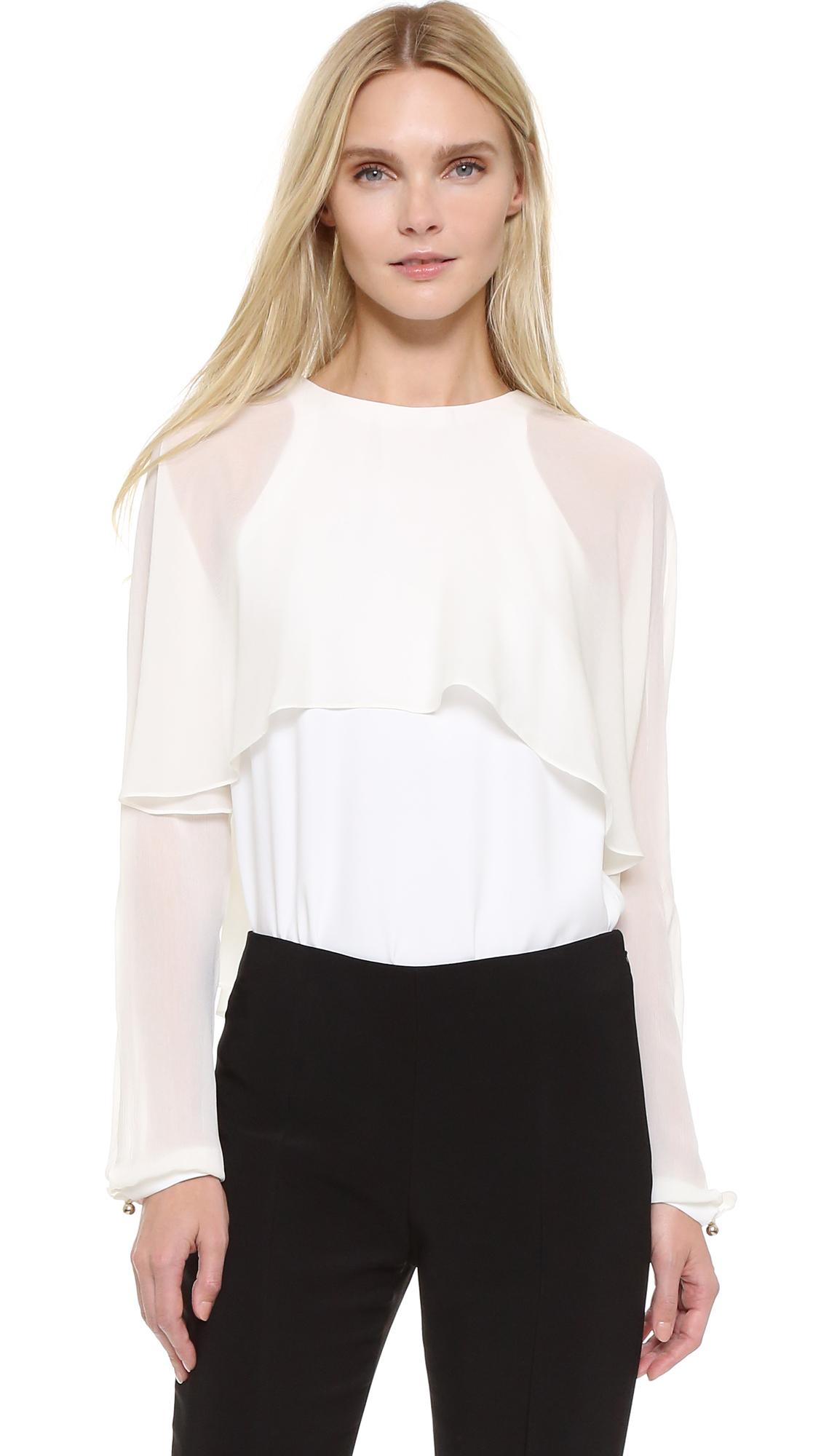 Antonio Berardi Long Sleeve Blouse - Off White at Shopbop