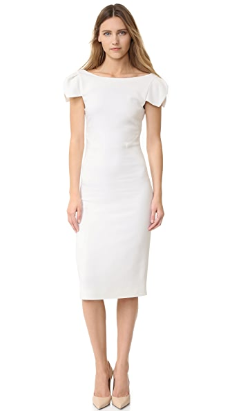 Antonio Berardi Cap Sleeve Dress - Off White at Shopbop