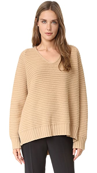 Antonio Berardi Long Sleeve Sweater - Camel