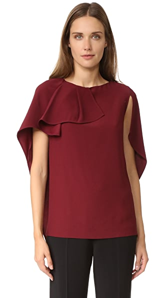 Antonio Berardi Cape Top - Burgundy at Shopbop