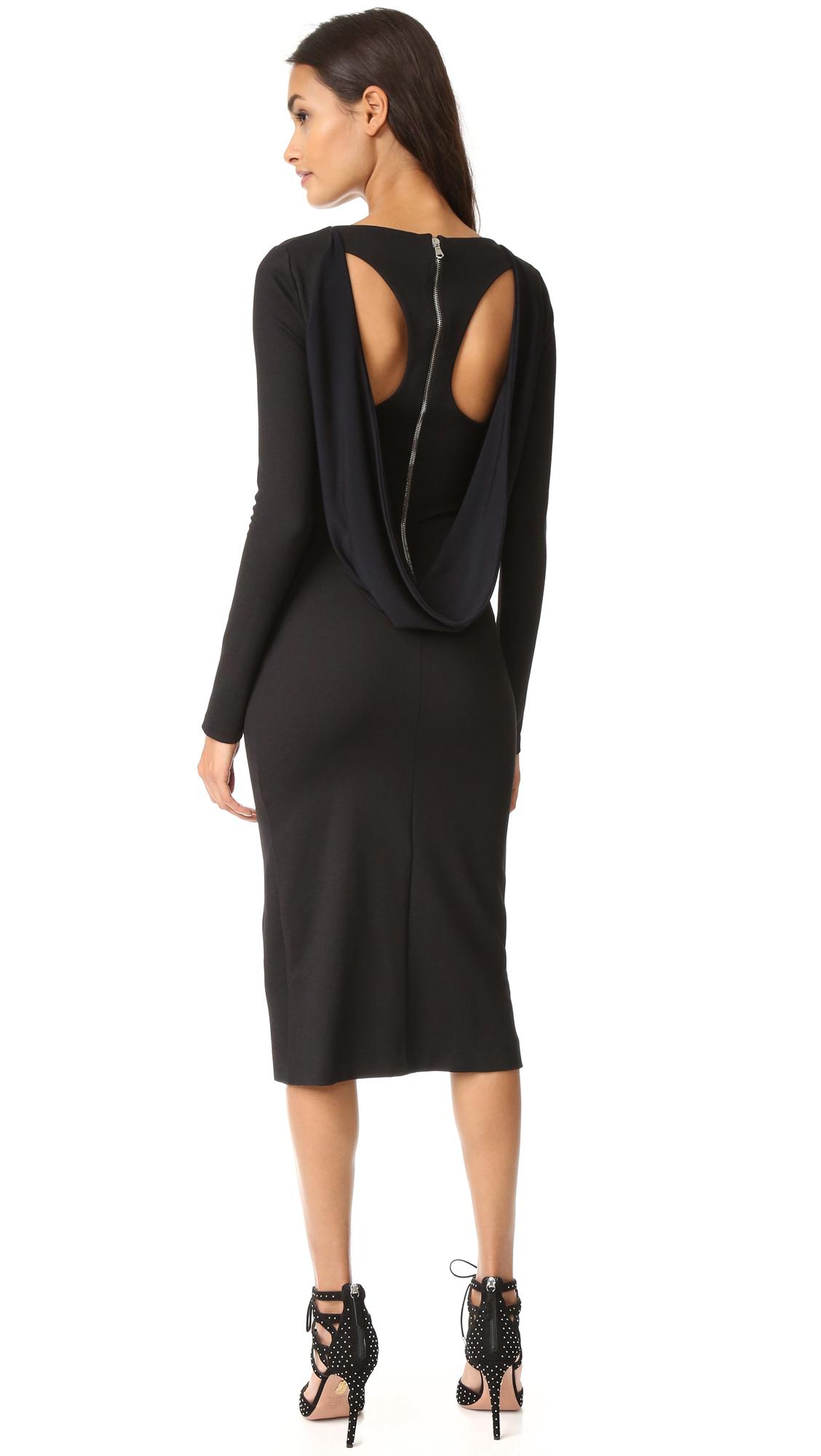 Antonio Berardi Long Sleeve Dress - Black at Shopbop
