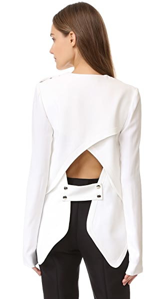 Antonio Berardi Long Sleeve Blouse - White at Shopbop