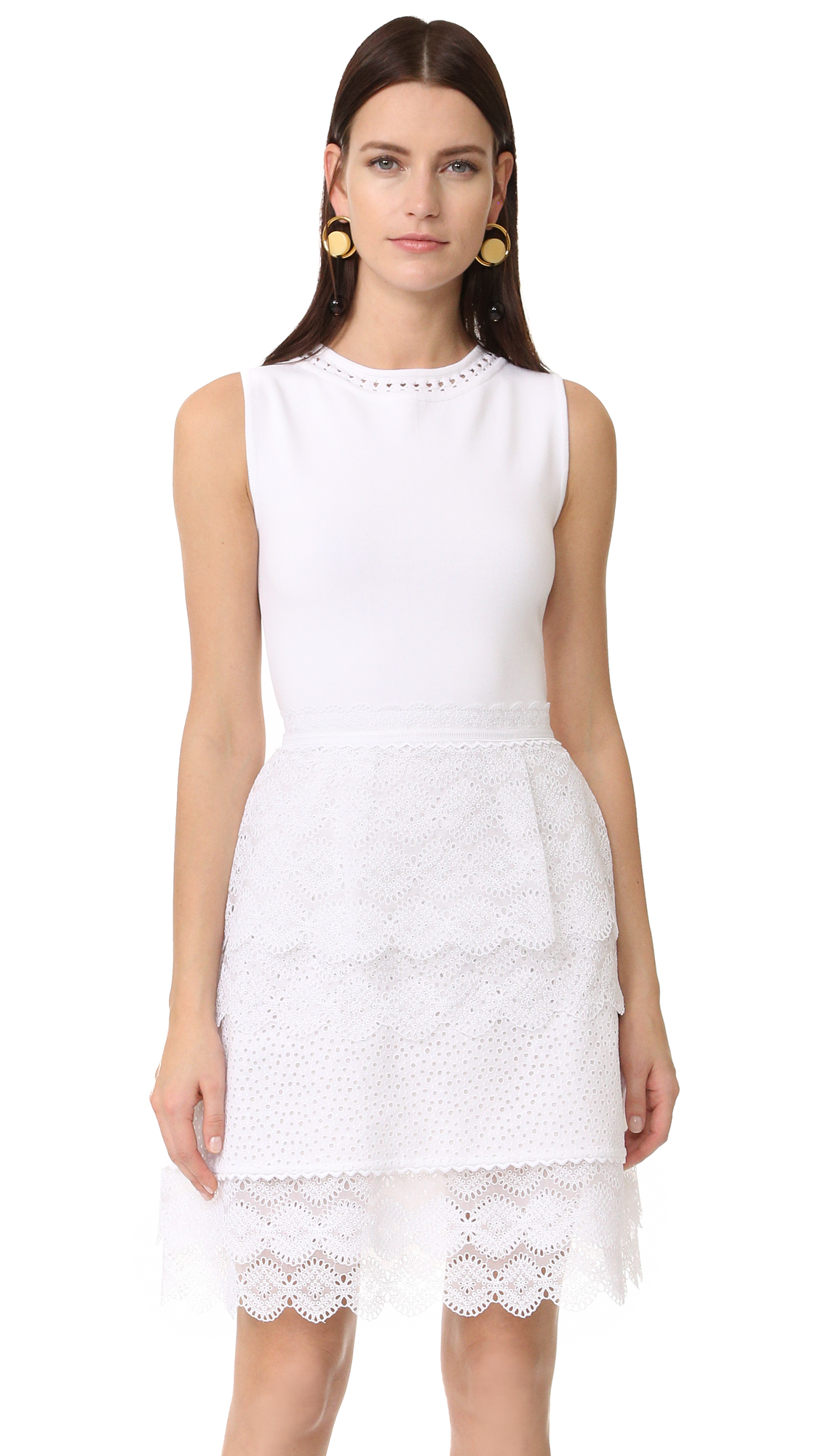 Antonio Berardi Sleeveless Dress - Bianco Ottico at Shopbop