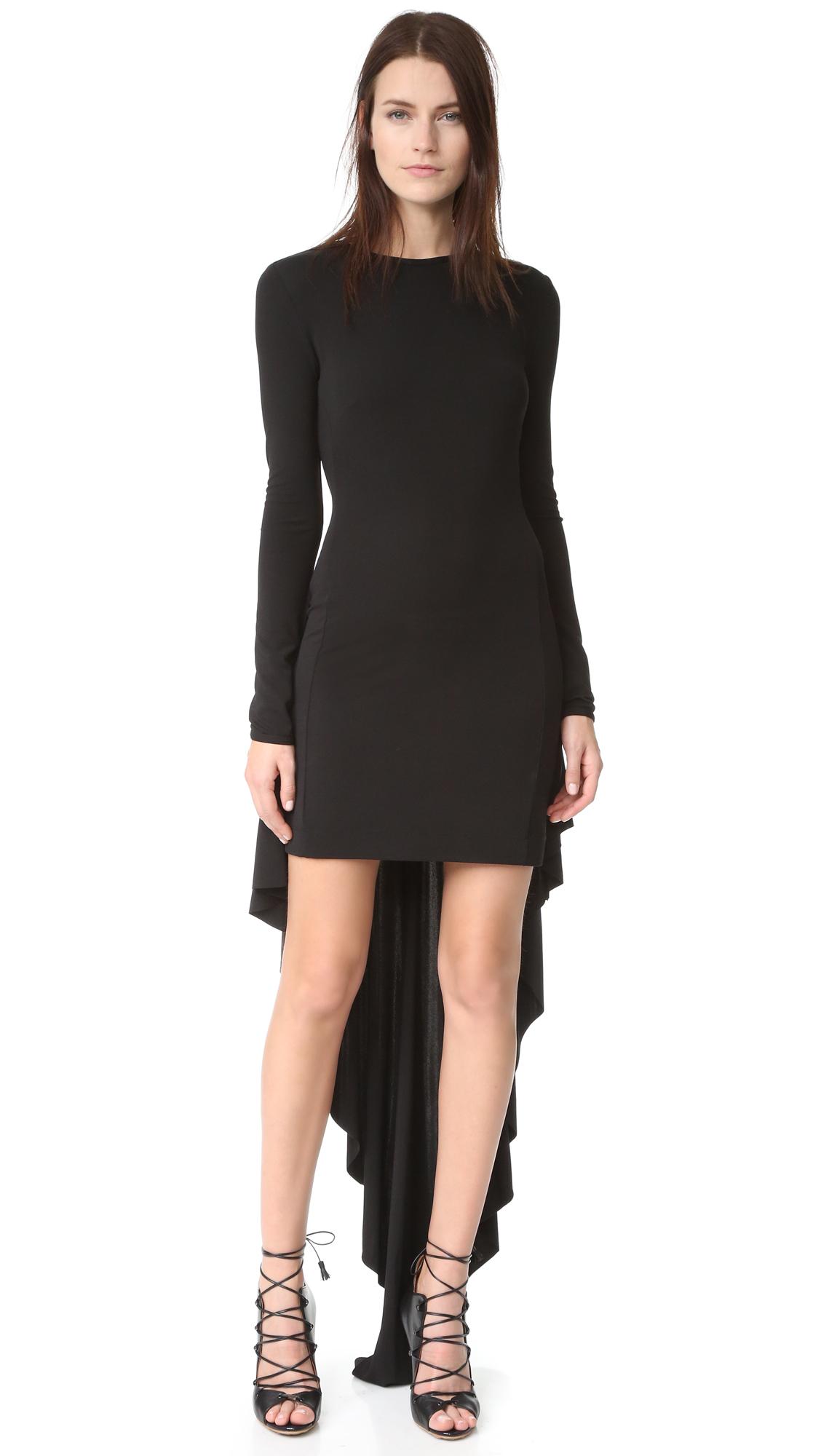 Antonio Berardi Long Sleeve Dress - Nero at Shopbop